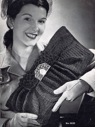 Vintage 1940's Envelope Bag Purse Crochet Pattern PDF