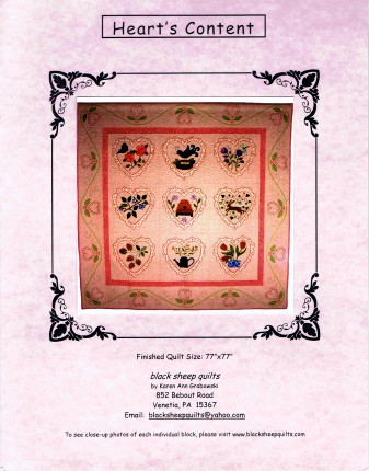 Black Sheep Quilts Heart's Content Quilt Pattern