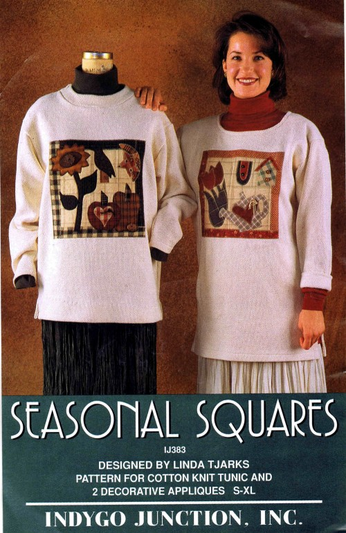 Misses Cotton Knit Tunic and Decorative Appliques Indygo Junction IJ383 Sewing Pattern Size S - M - L - XL