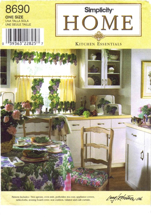 Apron Appliance Covers Pot Holders Curtains Tablecloths Chair Cushions Home Decor Simplicity 8690 Sewing Pattern