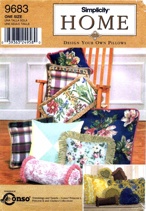 Simplicity 9683 Home Sewing Pattern Design Your Own Pillows