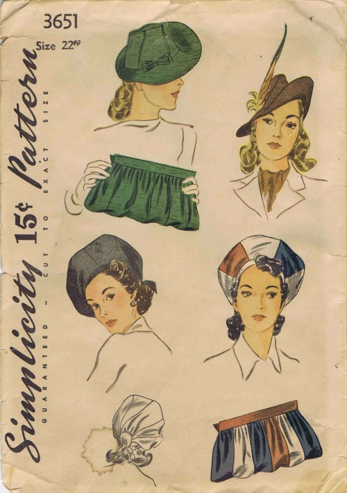 Bird Cage Millinery Vintage Styled  Retro 1940s  Vogue 7657 P905  WW2 Sewing Pattern Retro Style Pillbox Style Hat