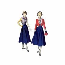 1960S Teen Girls Bolero Blouse Skirt Advance 5452 Vintage Sewing Pattern Size 10 Bust 29