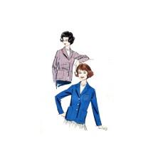 1950s Womens Blazer Jacket Advance 9011 Vintage Sewing Pattern Full Figure Size 20 Bust 40