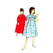 1960s Girls Nightgowns in Two Lengths Advance 2707 Vintage Sewing Pattern Size 10 Breast 28