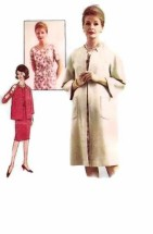 Advance 3203 Vintage Sewing Pattern Womens Dress & Coat Half Size 22 1/2 Bust 43