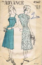 Advance 4547 Vintage Sewing Pattern Womens Sundress & Bolero Size 16 Bust 34