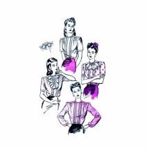 1940s Misses Blouse Advance 3652 Vintage Sewing Pattern Size 14 Bust 32
