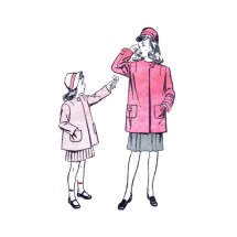 1940s Girls Coat Advance 4149 Vintage Sewing Pattern Size 8