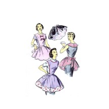 1950s Advance 8162 Misses Bib-Top and Half Aprons Vintage Sewing Pattern Bust 34 - 36