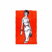 1950s Dress with Vestee Anne Adams 4571 Vintage Sewing Pattern Size 16 Bust 36