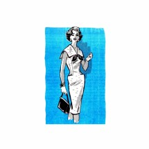 1950s V-Neckline Sailor Collar Sheath Dress Anne Adams 4663 Vintage Sewing Pattern Size 16 Bust 36