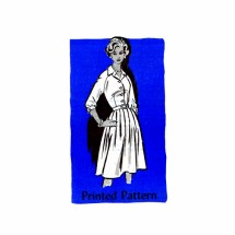 1960s Shirtwaist Dress Anne Adams 4672 Mail Order Vintage Sewing Pattern Size 16 Bust 36