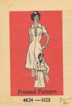 Anne Adams 4624 Mail Order Sewing Pattern Dress Sleeve Variations Bust 34