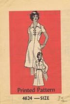 Anne Adams 4624 Mail Order Sewing Pattern Dress Sleeve Variations Bust 34