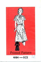 Anne Adams 4664 Yoked Dress with Sleeve Variations Size 18 - Bust 40