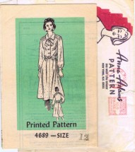 Mail Order 4689 Womens Shirtwaist Dress Blouse Skirt Vintage Sewing Pattern Size 12 Bust 34