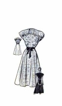 1940's Anne Adams 4716 Sewing Pattern Dress Cap Sleeves Gored Size 12 - Bust 30