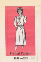 Anne Adams 4949 Womens Front Wrap Dress Vintage Sewing Pattern Size 18 Bust 40
