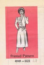 Anne Adams 4949 Womens Front Wrap Dress Vintage Sewing Pattern Size 18 Bust 40