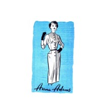 1950s Anne Adams 4560 Mandarin Collar Sheath Dress Mail Order Vintage Sewing Pattern Size 14 Bust 32