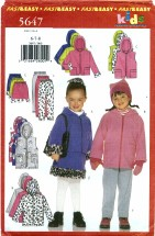 Butterick 5647 Jacket Vest Skirt Pants Size 6 - 8