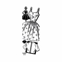 1950s Sundress and Bolero Jacket Barbara Bell Mail Order 1-464 Vintage Sewing Pattern Size 12 Bust 32