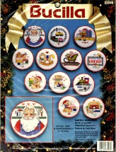 Santa's Work Shop Christmas Ornaments Cross Stitch Bucilla Kit