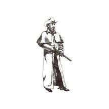 Mens Range Coat Buckaroo Bobbins Authentic Vintage Western Clothing Sewing Pattern S - M - L - XXL - XXXL