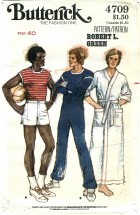 Butterick 4709 Mens T-Shirt Sweat Pants Shorts Robe Chest 40