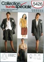 Burda 5426 Jacket Shorts Skirt Vest Suit Size 8 - 18