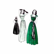 1940s Dinner and Dance Evening Dress Butterick 3963 Vintage Sewing Pattern Size 16 Bust 34