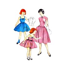 1950s Girls Sundress and Jacket Butterick 7368 Vintage Sewing Pattern Size 4 Breast 23
