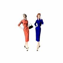1950s Slim Wiggle Dress Butterick 7479 Vintage Sewing Pattern Size 14 Bust 32