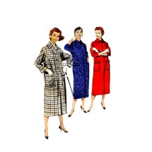 1950s Misses Box Coat Butterick 8302 Vintage Sewing Pattern Size 14 Bust 34