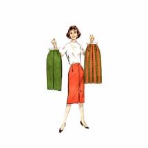 1950s Slim Sheath Skirt Butterick 8759 Vintage Sewing Pattern Waist 28