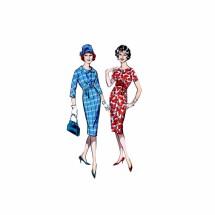 1950s High Waist Sheath Dress Butterick 8900 Vintage Sewing Pattern Size 14 Bust 34