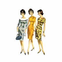 1960s Princess Sheath Dress Butterick 2137 Vintage Sewing Pattern Size 12 Bust 32