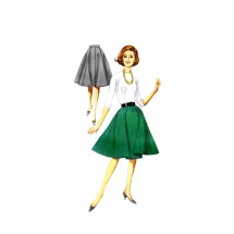1960s Misses Eight Gore Full Skirt Butterick 2479 Vintage Sewing Pattern Waist 28 Hip 38