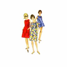 1960s Misses Beachdress and Cover-Up Butterick 4025 Vintage Sewing Pattern Size 10-12 Bust 31-32