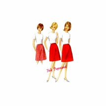 1960s Misses Proportioned A-line Skirt Butterick 4111 Vintage Sewing Pattern Waist 25 Hip 34