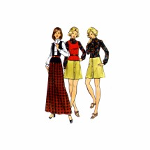 1970s Misses Low Waist Dress Sweater Top Butterick 6756 Vintage Sewing Pattern Size 10 Bust 32 1/2