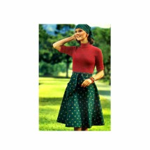 1970s Misses Flared Wrap Skirt Butterick 3768 Vintage Sewing Pattern Waist 26 1/2 - 28