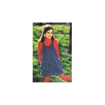 Girls Aline U-Neckline Jumper with Pockets Butterick 3873 Vintage Sewing Pattern Size 10