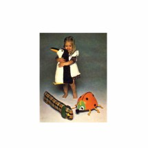 1970s Penguin Lady Bug Dog Stuffed Animals Butterick 3958 Vintage Sewing Pattern