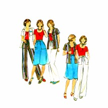 1970s Misses Shirt T-Shirt Skirt Pants Butterick 4659 Vintage Sewing Pattern Size 14 Bust 36