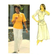 Misses Top Skirt Pants Belt 1970s Butterick 5478 Vintage Sewing Pattern Size 14 Bust 36