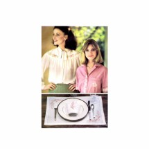 Flower and Alphabet Embroidery Transfer Butterick 5496 Vintage Pattern