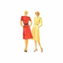 Misses Dress Top Skirt Butterick 4077 Vintage Sewing Pattern Size 14 Bust 36