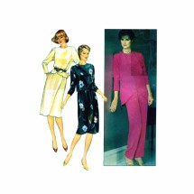 1980s Mock Wrap Top Skirt Pants Butterick 4542 Vintage Sewing Pattern Size 10 Bust 32 1/2